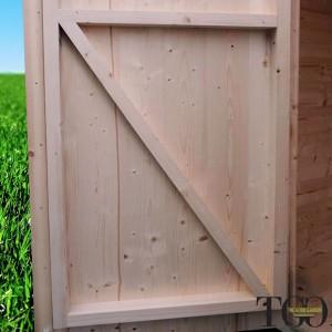 Casette in legno. Box Capanno In Legno Jack Per Attrezzi con porta singola finestrata 146 x 146 cm dettaglio 1382