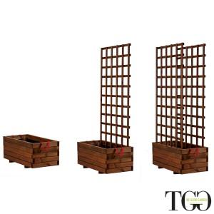 Ortiera in legno Hortus in legno per esterno color castagno 45 x 90 x 39 cm