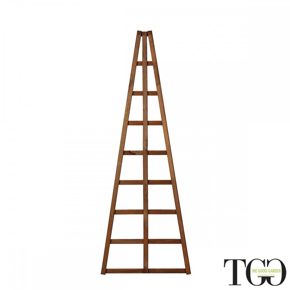 Griglia in legno per esterno Hortus piramidale color castagno 60 x 150 cm confezione da 2 pezzi
