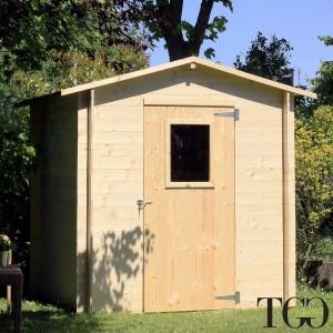 Casetta in legno Wanda Box Capanno Attrezzi - Ambientata