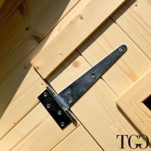 Casetta in legno Wanda Box Capanno Attrezzi - cerniera
