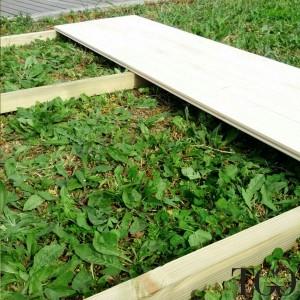 Casetta in legno Wanda Box Capanno Attrezzi - travi di appoggio