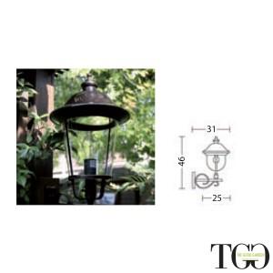 Lampada applique da esterno in alluminio Parigi