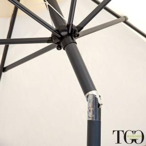 Ombrellone da giardino inclinabile 3x3 in alluminio Amalfi dettaglio snodo