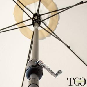 Ombrellone da giardino inclinabile 3x3 in alluminio Amalfi dettaglio interno