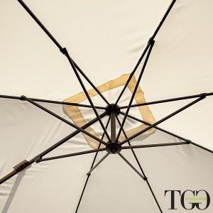 Ombrellone da giardino quadrato inclinabile 3x3 in alluminio RAVELLO