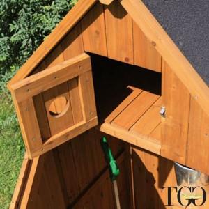 Mobiletto in legno da esterno Utile 3 - 77x54x197 Cm