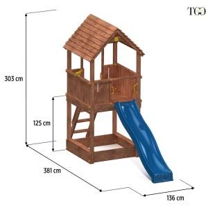 Scivolo in legno Guliver gioco in legno per giardino