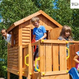 Casetta in legno con scivolo MyHouse 1 gioco in legno per giardino