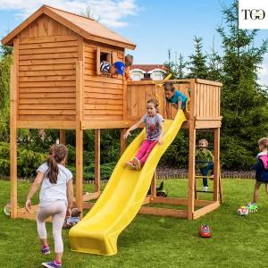 Casetta in legno con scivolo Bambi 2 gioco in legno per giardino