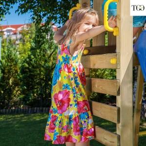 Scivolo in legno Fungoo Carol 1 gioco in legno per giardino