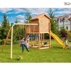 Casetta in legno con scivolo Bambi 4 gioco in legno per giardino