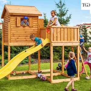 Casetta in legno con scivolo MOVE MySIDE gioco in legno per giardino