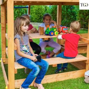 Casetta in legno con scivolo Bambi 6 gioco in legno per giardino