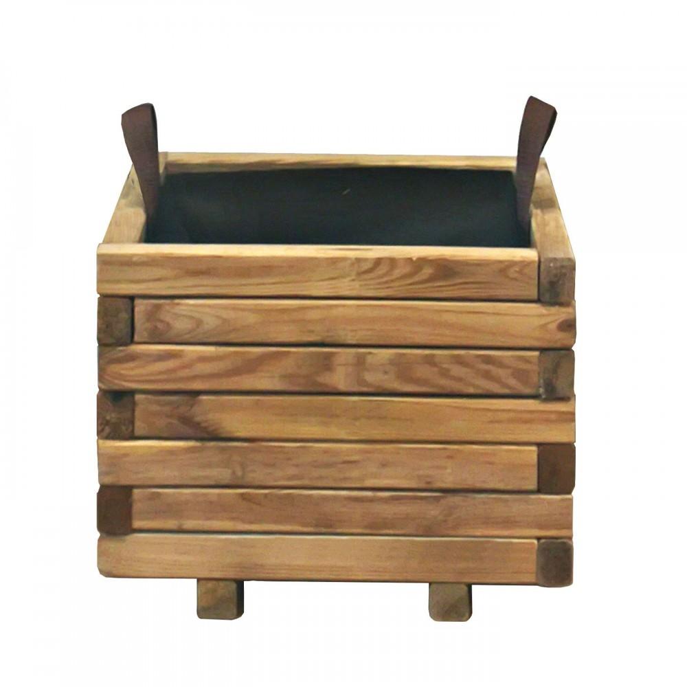 Fioriera in legno per giardino e terrazzo Cubo 40 x 40 cm